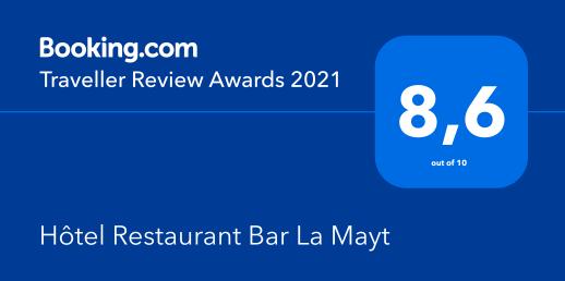 Récompense Avis clients Booking pour l'hôtel La Mayt à Vars
